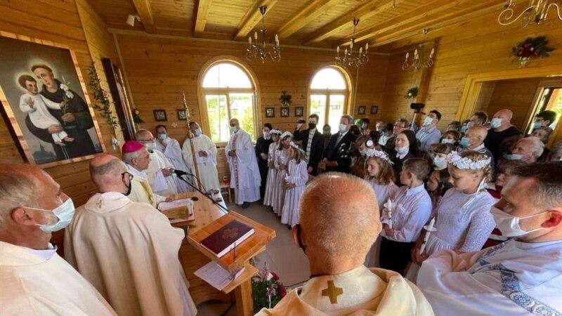 В томском селе Белосток освятили восстановленный костел