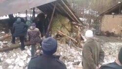 В результате схода снежной лавины в Сангворе разрушены 10 домов