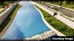 В проекте предусмотрено создание искусственных водоемов.
