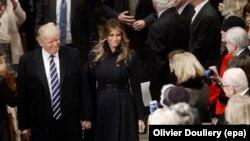 Дональд Трамп с женой в Вашингтонском соборе, 21 января 2017