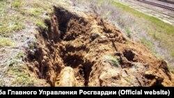 Снаряд, виявлений робітниками в Севастополі