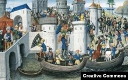 """Фрязи"" берут Константинополь, 1204"