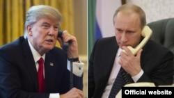 Donald Trump (solda) və Vladimir Putin (arxiv fotosu)