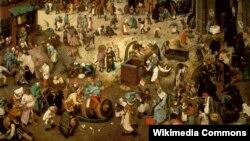 Пітэр Брэйгель Старэйшы, «Бойка Карнавалу і Посту» (1559)