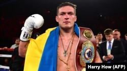 Oleksandr Usyk of Ukraine defeated Russia's Murat Gassiev by unanimous decision in Moscow on July 21. (file photo)