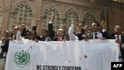 په لاهور کې د وکیلانو احتجاج