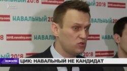 ЦИК: Навальный не может баллотироваться в президенты