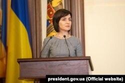 Тодішня прем'єр-міністр Молдови Майя Санду під час візиту до України. Київ, 11 липня 2019 року