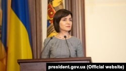 Майя Санду під час візиту до України ще тоді, кола вона була прем'єр-міністром Молдови. Київ, 11 липня 2019 року