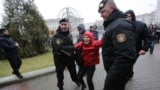 Belarus--Detention of protestors at Freedom Day demonstrations in Minsk, March 17, 2017.