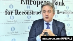 Armenia - Francis Malige, the EBRD director for Eastern Europe and the Caucasus, speaks to RFE/RL in Yerevan, 1 June 2018.