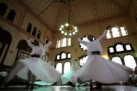 Whirling dervishes performing in Istanbul (AFP)