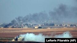 لحظاتی پس از حملۀ نظامی ترکیه بر سوریه ۹ اکتوبر ۲۰۱۹