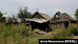 Все что осталось от многих домов в поселке Уссурийском после наводнения 2013 года