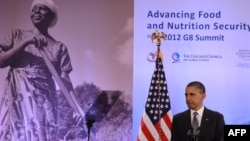 U.S. -- President Barack Obama speaks on Global Agriculture and Food Security at the Ronald Reagan Building in Washington, DC, 18May2012