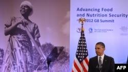 Барак Обама оголошує про продовольчі ініціативи «Групи восьми», Вашингтон, 18 травня 2012 року