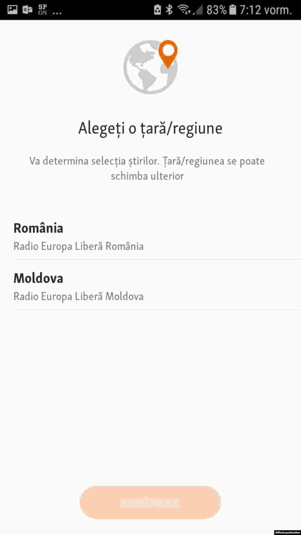 Radio Europa Liberă România- noua aplicație