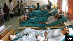 Архивска фотографија: Повредени во бомбашки напад во Авганистан.