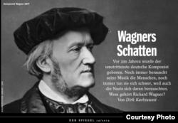 Coperta revistei Der Spiegel, ediție dedicată dezbaterii bicentenarului Wagner