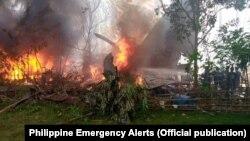 Літак С-130 ВПС Філіппін розбився в районі Патікул, 4 липня 2021 року