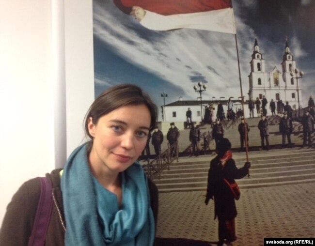 Верасень 2014 году. Таня Макаед у праскім офісе Свабоды.