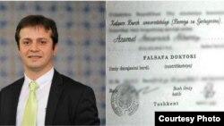 Azamat Akbarov xorijda olgan falsafa doktori (PhD) diplomi qalbaki bo'lib chiqqani ortidan shu yil yanvarida ishdan olingandi