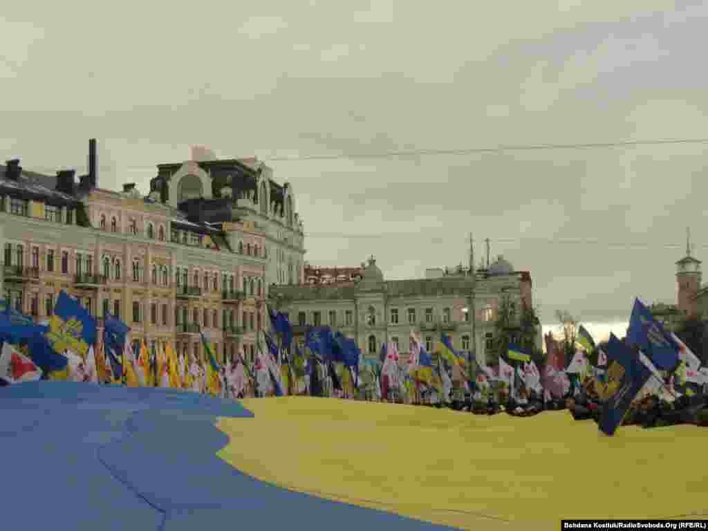 Всеукраїнське віче за участю представників правих політичних партій та громадських організацій національно-демократичного напряму у Києві біля храму Святої Софії