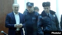Armenia -- Former President Robert Kocharian arrives for a court hearing, Yerevan, February 18, 2020.