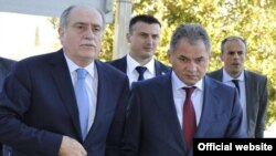 Ministri Milan Roćen i Sergey Shoigu, Podgorica, 19. oktobar 2011