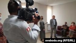 Журналісты БТ задаюць пытаньні Андрэю Шарэнду