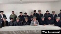 Султыговы и Тимурзиевы, скриншот из видеообращения