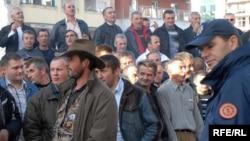 Radnici Željezare Nikšić takođe su protestovali nekoliko puta prošle godine, Foto: Savo Prelević