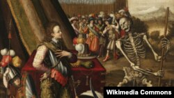 Фрагмент картины «Аллегория войны» Антуана Корона (XVI век)