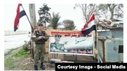 Сирияда жүргенін әлеуметтік желіде жариялаған ресейлік солдат (Көрнекі сурет).