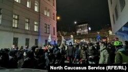 Акция в Австрии против депортации чеченцев
