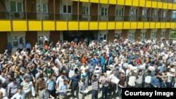 تجمع حدود ۱۵۰۰ تن از کارگران شرکت ایران ترانسفوی زنجان