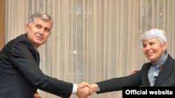 Lideri dva HDZ-a Dragan Čović i Jadranka Kosor