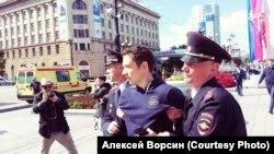 Алексей Ворсин во время задержания. Архивное фото