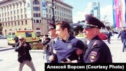 Задержание Алексея Ворсина