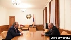 Armenian PM Nikol Pashinian meeting with Karabakh leader Bako Sahakian, Stepanakert, 11 March 2019