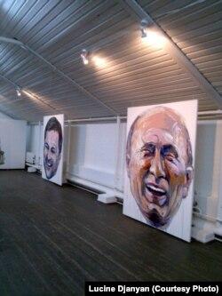 Лусинэ Джанян. Портреты Владислава Суркова и Владимира Путина на выставке в Зверевском центре в Москве