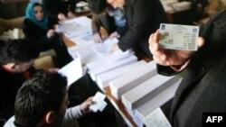 مركز توزيع بطاقات الناخبين الألكترونية في أربيل