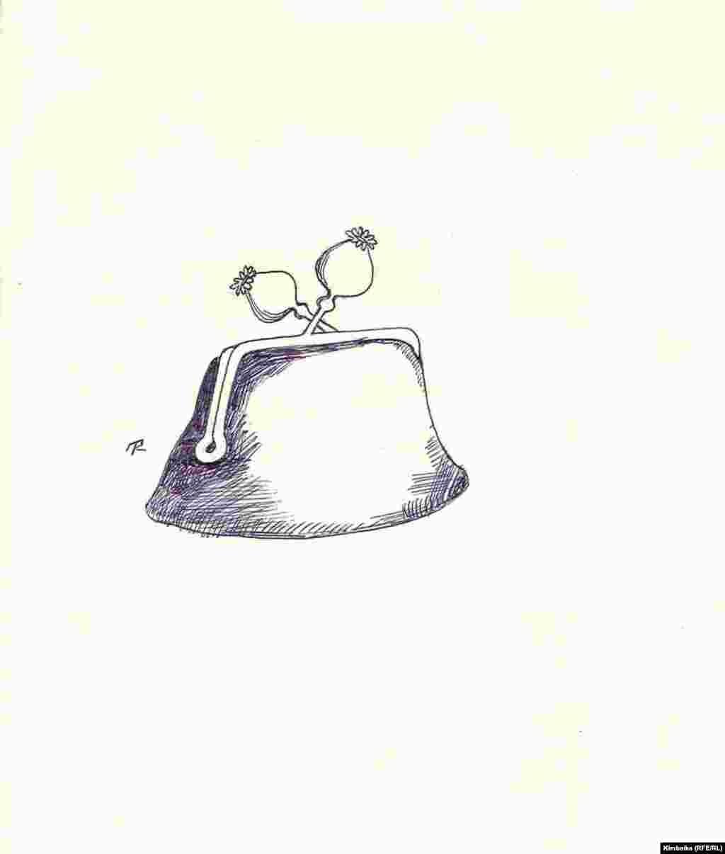 """""""Таза акчанын"""" артында булайган апийим. """"Азаттык үналгысы"""". TKy. 23.07.2011. - Кимбайке баңгизат ташуучуларды тымызын колдоп марыгандардын """"капчыгына жабышкан чөптү"""" байкап калган."""