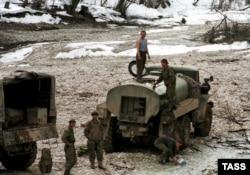 Российские войска в Аргунском ущелье. Зима 2000-го года