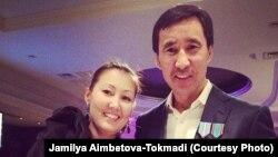 Супруги Муратхан Токмади и Джамиля Аимбетова-Токмади. Фото предоставлено Азаттыку Джамилей Аимбетовой-Токмади.