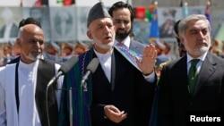 Авганистанскиот претседател во заминување Хамид Карзаи.