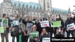 Акция в поддержку Мехди Карруби и Мирхоссейна Мусави в Гамбурге