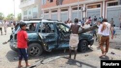 Йеменнің Аден қаласында болған жарылыстардың бірі. 23 маусым 2016 жыл (Көрнекі сурет).
