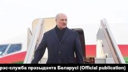 Аляксандар Лукашэнка па прылёце ў Маскву на перамовы з Ўладзімірам Пуціным, 25 сьнежня 2018 году