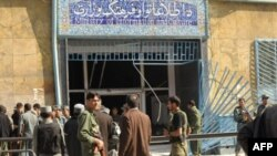 The Information and Culture Ministry after the blast on October 30